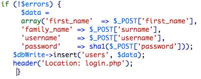 Zend database insert