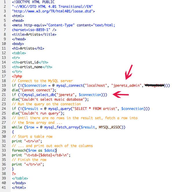 Database MySQL PHP